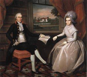 Oliver Ellsworth and Abigail Wolcott Ellswort | Ralph Earl 1792 | oil painting