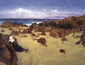 Coast of Brittany | James McNeill Whistler 1861 | oil painting
