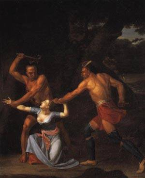 The Murder of Jane McCrea | John Vanderlyn 184 | oil painting