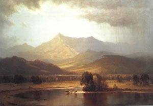 A Passing Storm in the Adirondacks | Sanford Robinson Gifford 1866 | oil painting