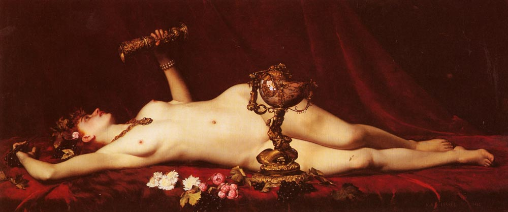 Bacchante Enivree | Adolphe Alexandre Lesrel | oil painting