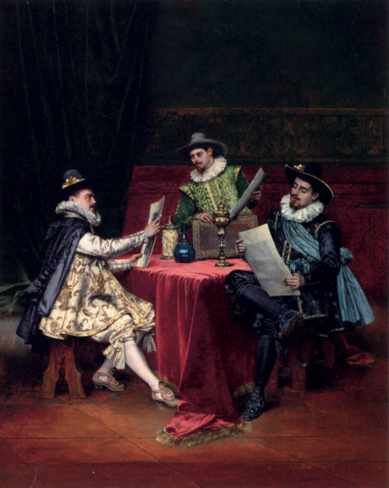 The Collectors | Adolphe Alexandre Lesrel | oil painting