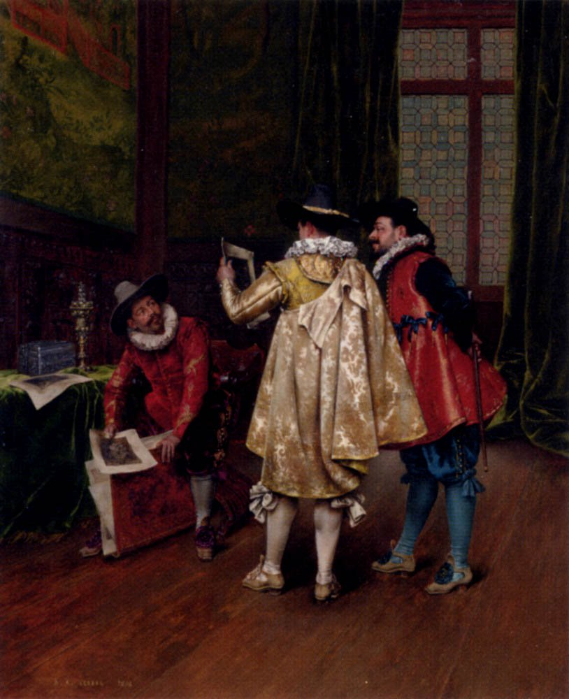 The Conversation | Adolphe Alexandre Lesrel | oil painting