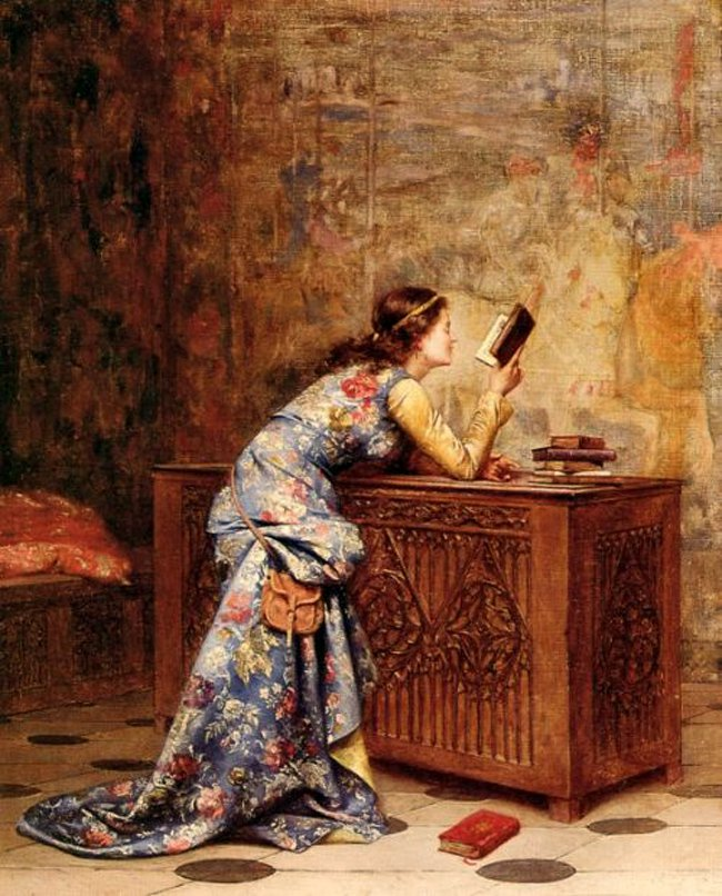 Captivated | Adolphe Alexandre Lesrel | oil painting