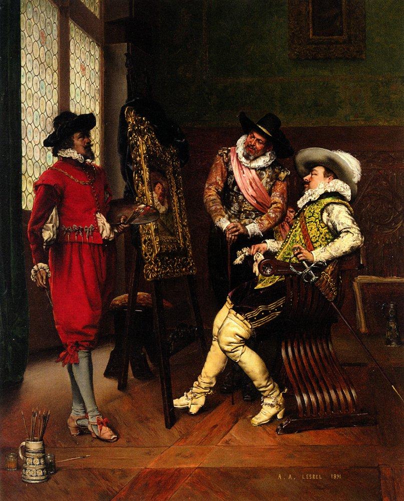 Les Critiques | Adolphe Alexandre Lesrel | oil painting