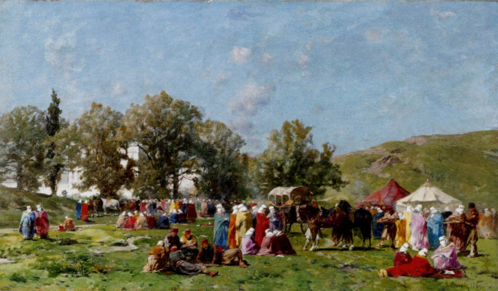 Sulle rive del Bosforo 1869 | Alberto Pasini | oil painting