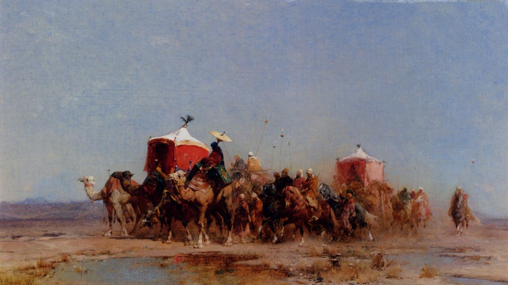 Caravan In The Desert 1867 | Alberto Pasini | oil painting