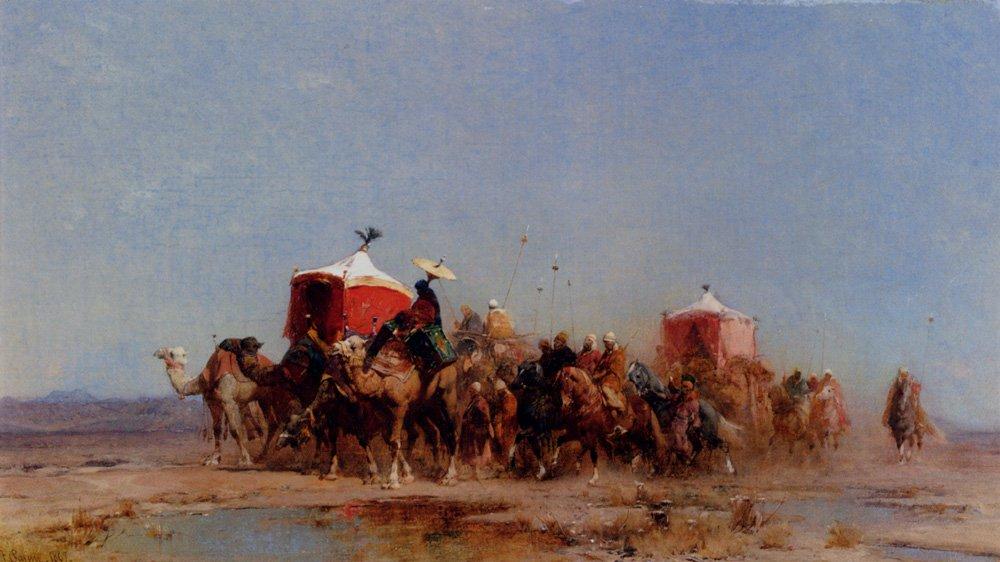 Caravan In The Desert 1867 | Alberto Pasini | oil painting