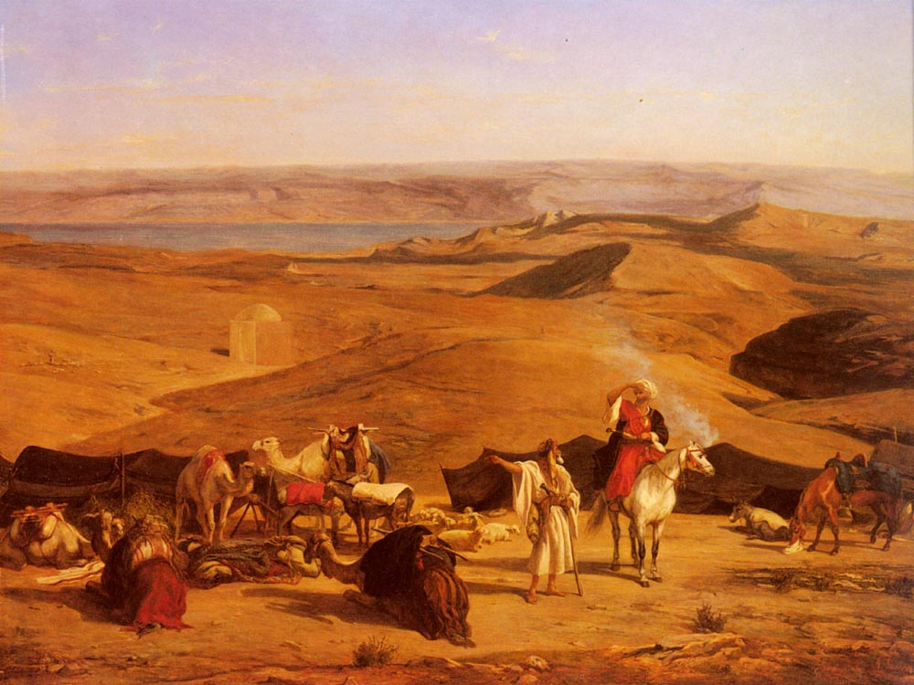 The Desert Encampment | Alberto Pasini | oil painting