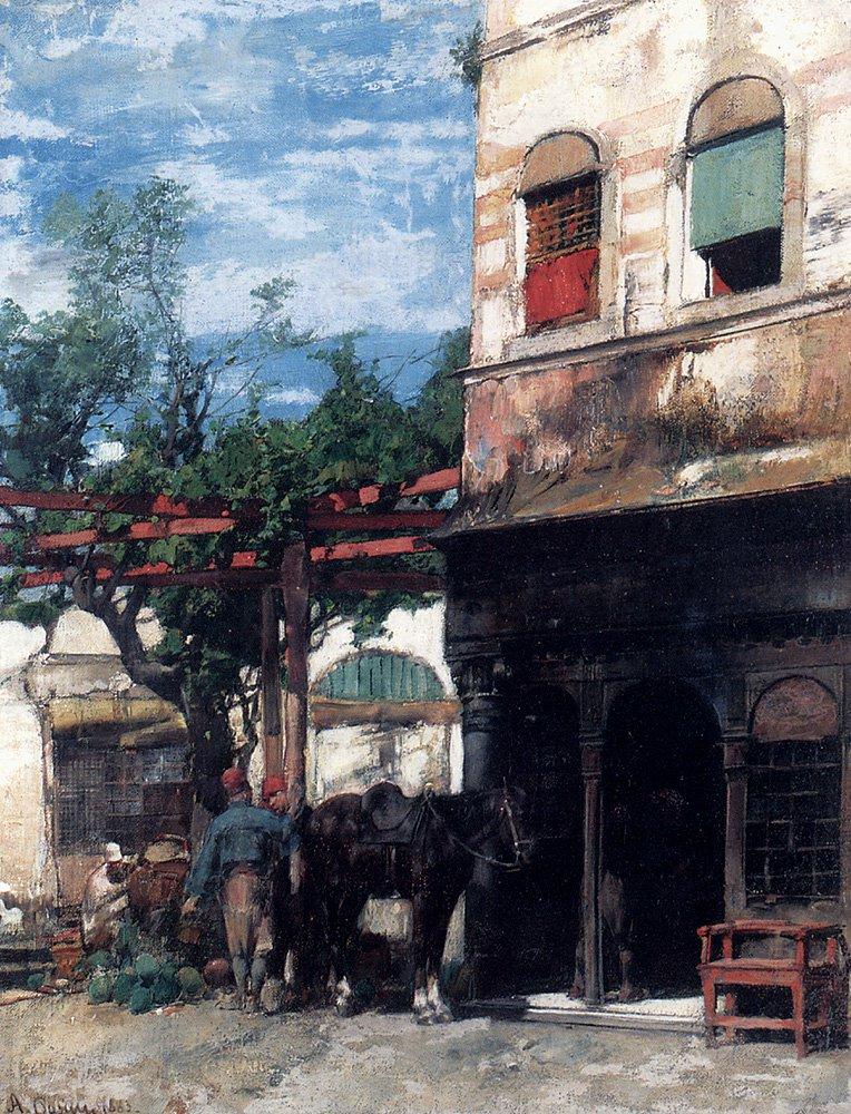 In The Courtyard 1883 | Alberto Pasini | oil painting