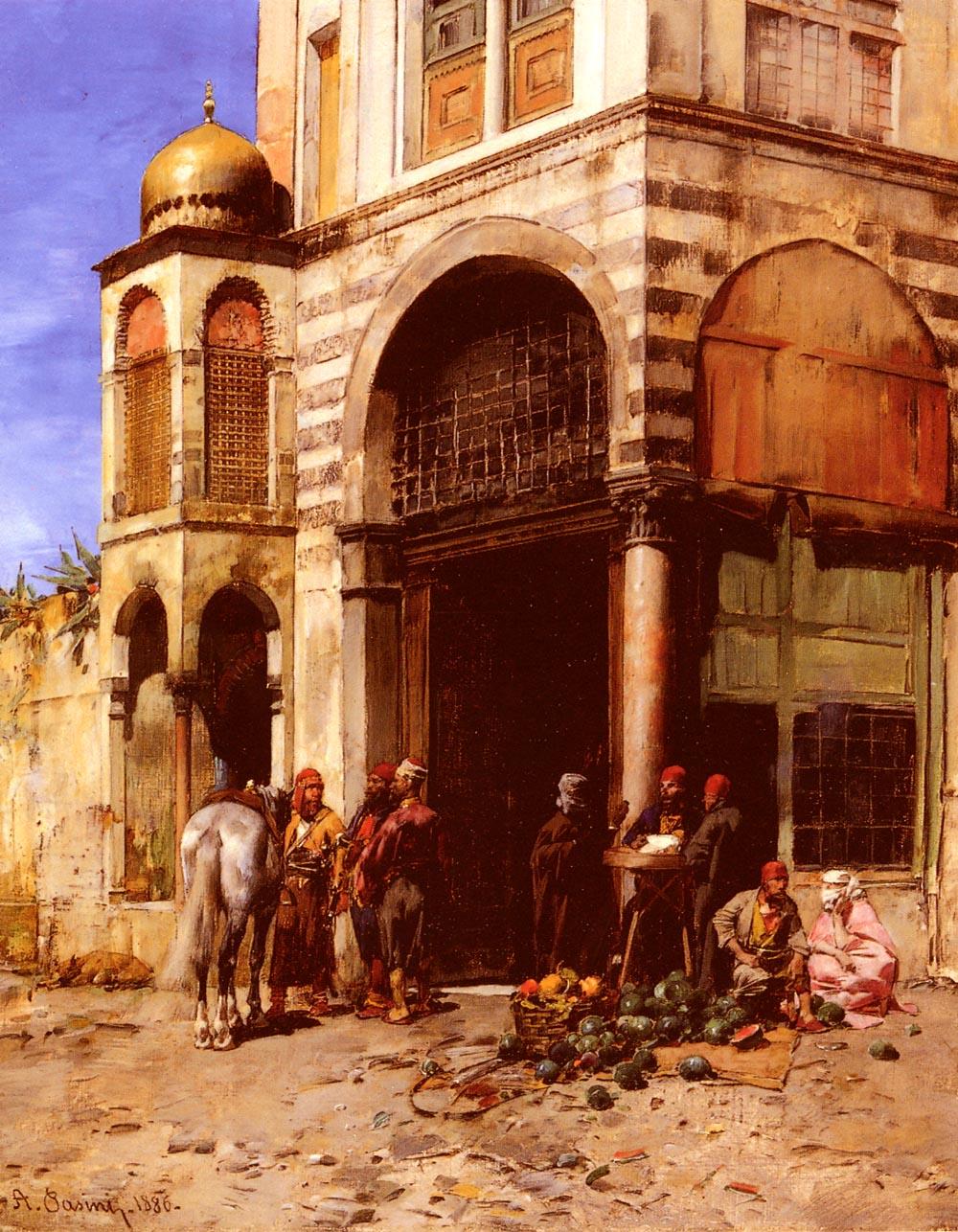 The Fruitmarket 1886 | Alberto Pasini | oil painting