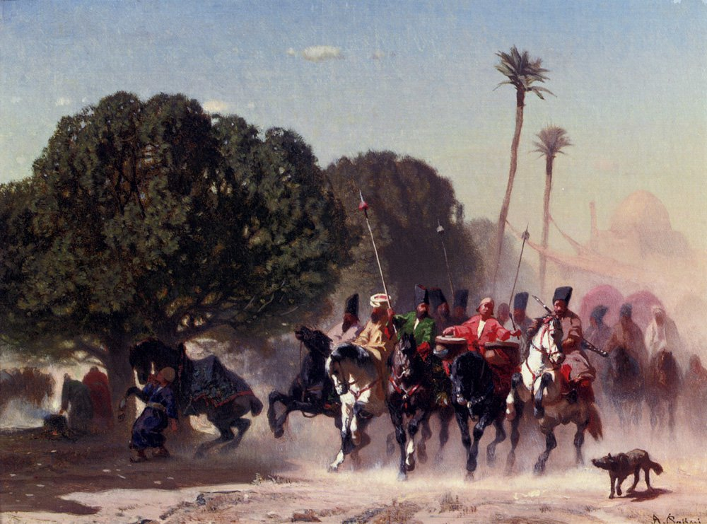 The Horse Guard 1850 | Alberto Pasini | oil painting