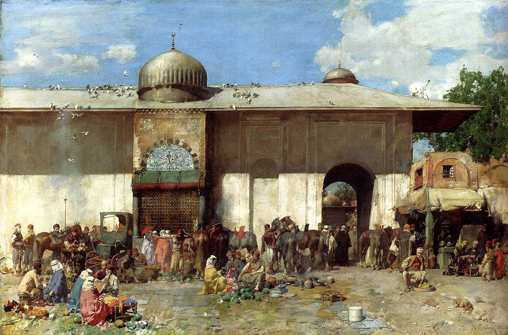 A Market Scene 1884 | Alberto Pasini | oil painting