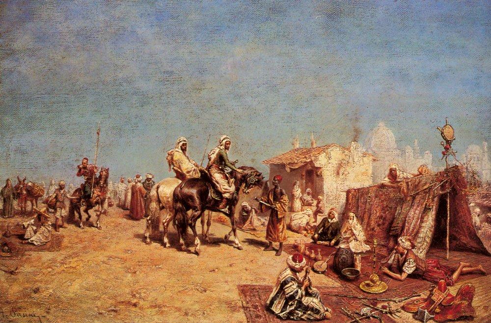 An Arab Encampment | Alberto Pasini | oil painting