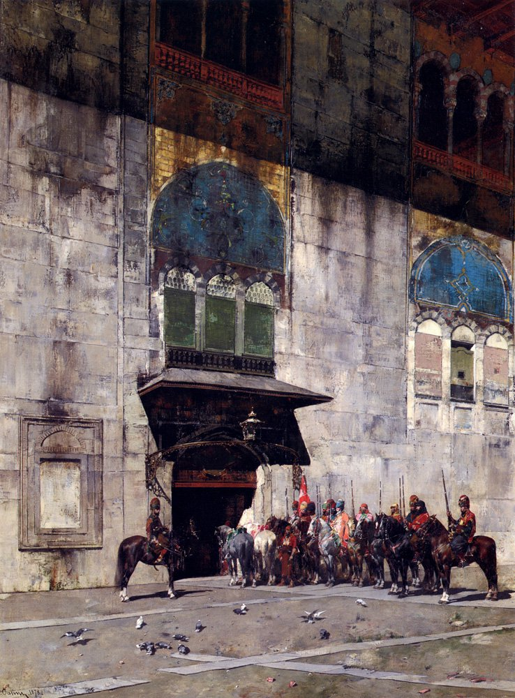 The Pashas Escort 1878 | Alberto Pasini | oil painting