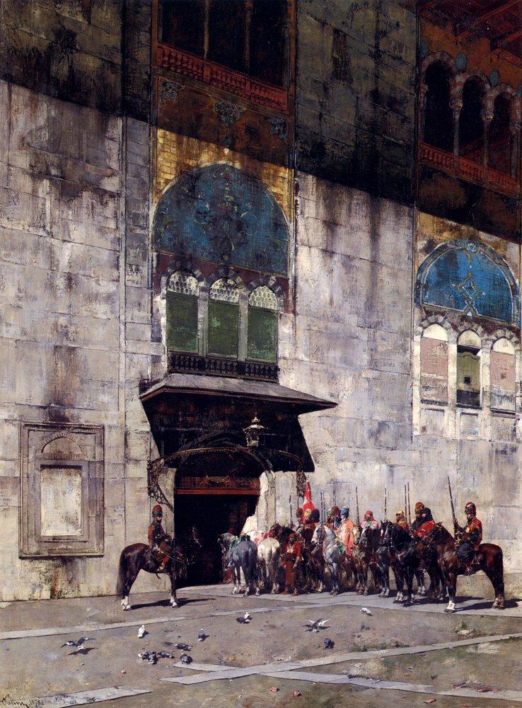 The Pashas Escort 1878 | Alberto Pasini | oil painting