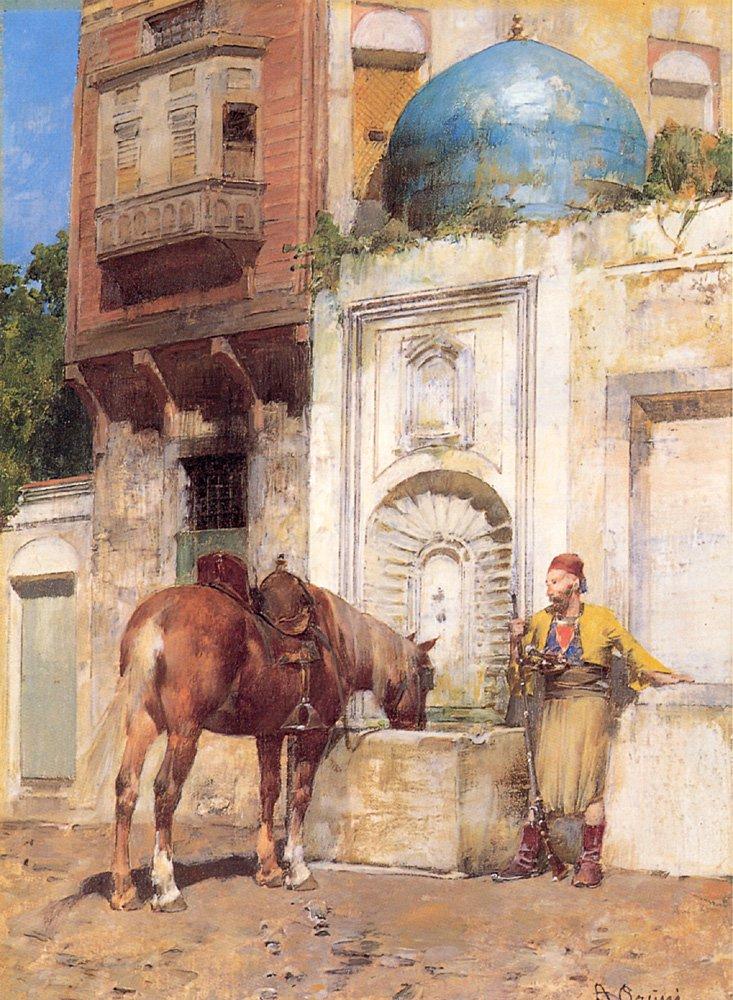 On the Well | Alberto Pasini | oil painting