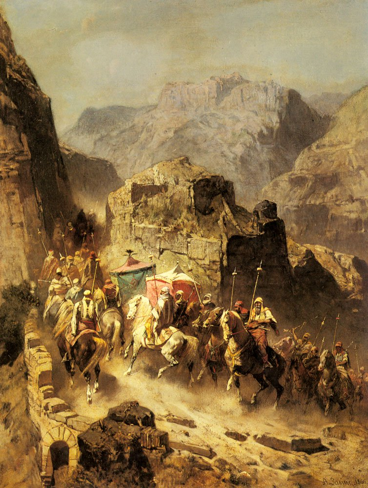 An Arab Caravan 1866 | Alberto Pasini | oil painting