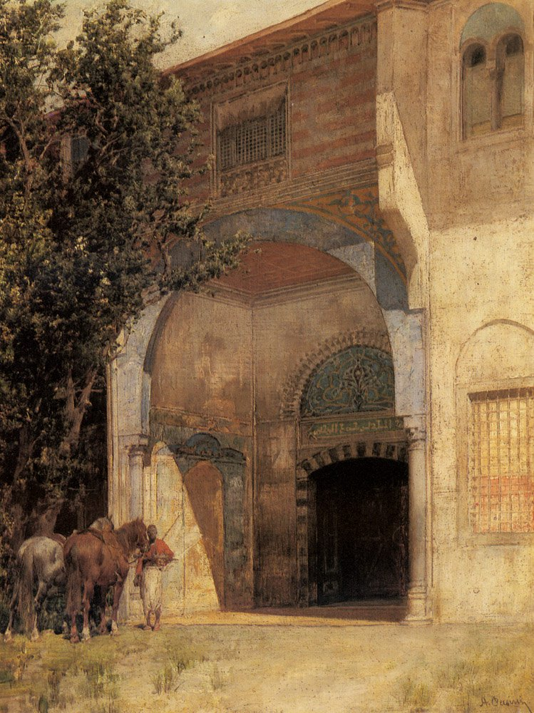Standing Guard Private collection   Alberto Pasini   oil painting