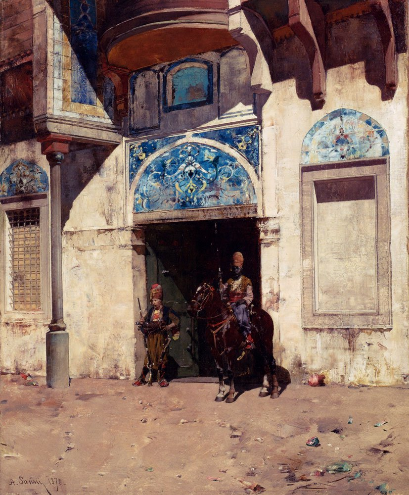 The Palace Guard 1878 | Alberto Pasini | oil painting