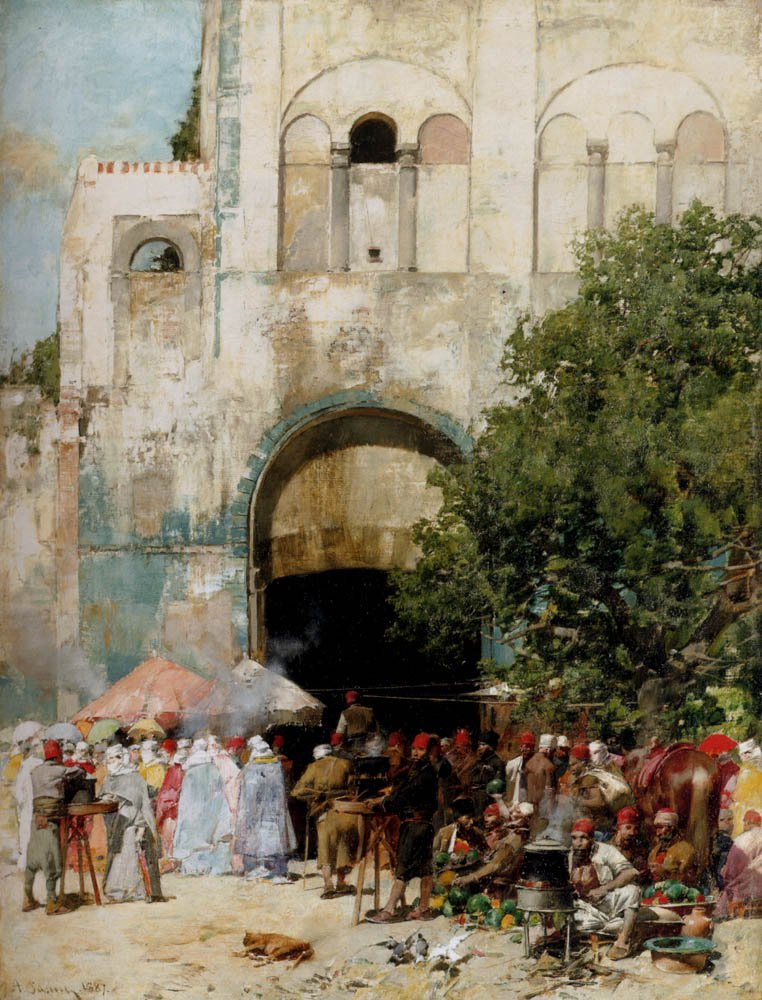 Market day Constantinople 1887 | Alberto Pasini | oil painting
