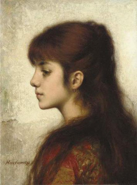 Contemplation | Alexei Alexeivich Harlamoff | oil painting