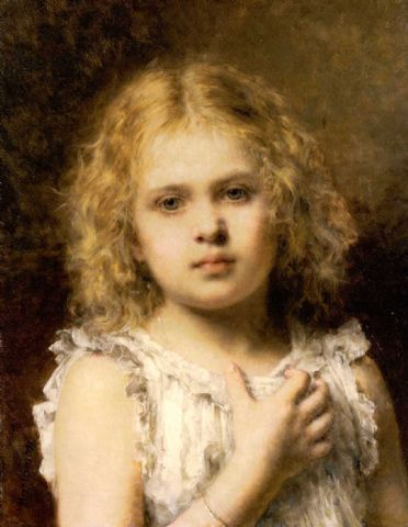 A Young Beauty | Alexei Alexeivich Harlamoff | oil painting