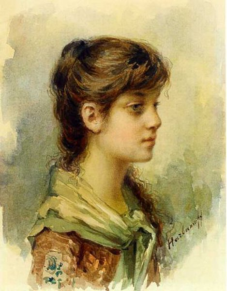 The Artists Daughter | Alexei Alexeivich Harlamoff | oil painting