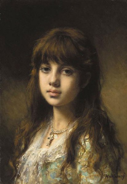 Little Girl | Alexei Alexeivich Harlamoff | oil painting