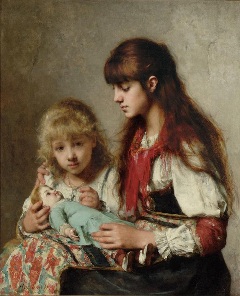 Sisters | Alexei Alexeivich Harlamoff | oil painting