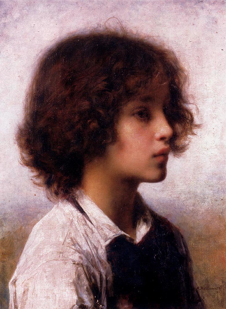 Faraway Thoughts | Alexei Alexeivich Harlamoff | oil painting