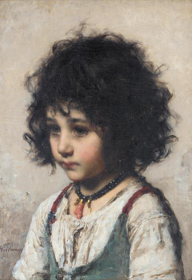 Young Girl | Alexei Alexeivich Harlamoff | oil painting