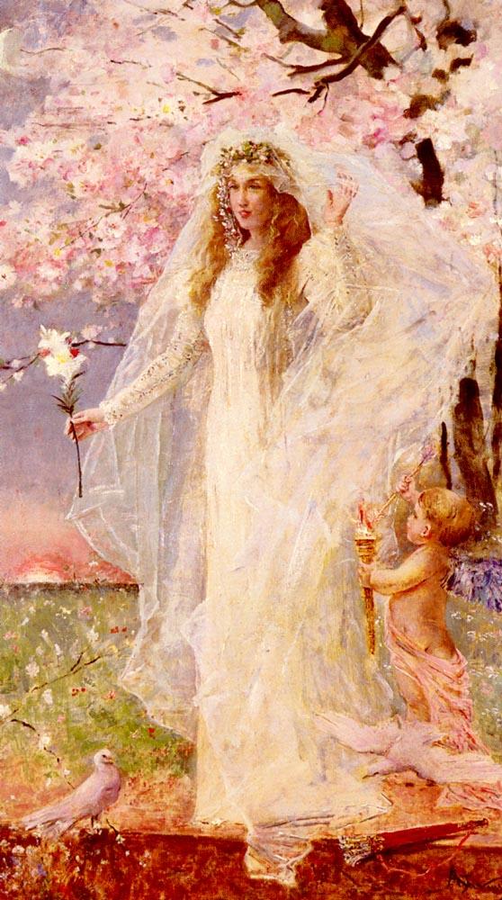L amour et L hymen | Alfred Stevens | oil painting