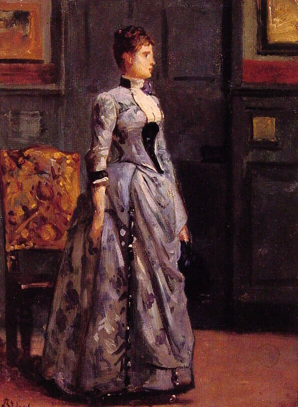 Portrait of a Woman in Blue | Alfred Stevens | oil painting