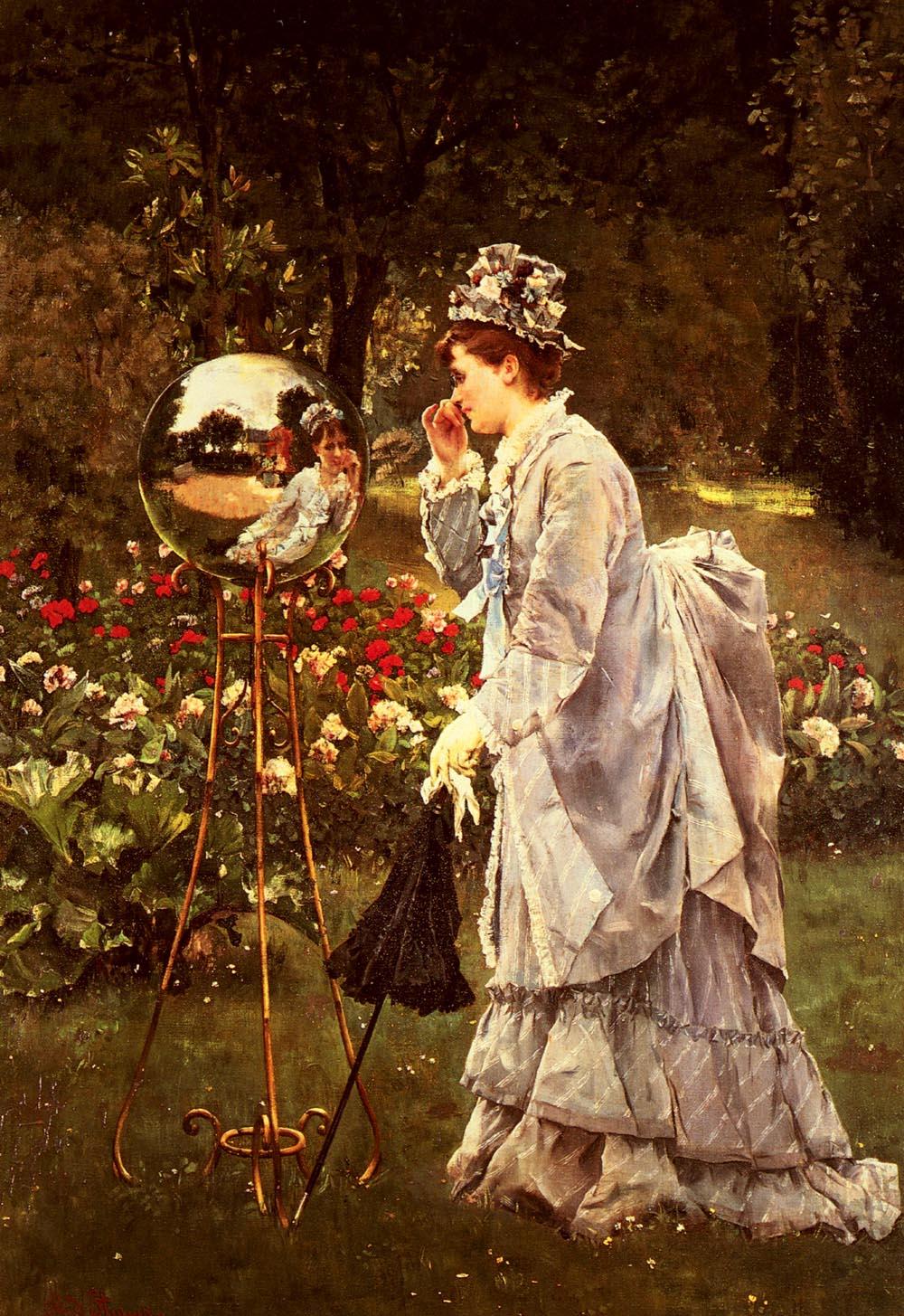 La Boule De Verre | Alfred Stevens | oil painting