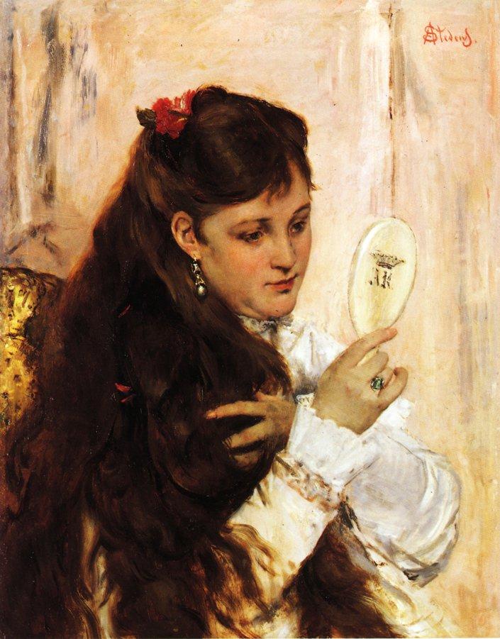 Reveil | Alfred Stevens | oil painting