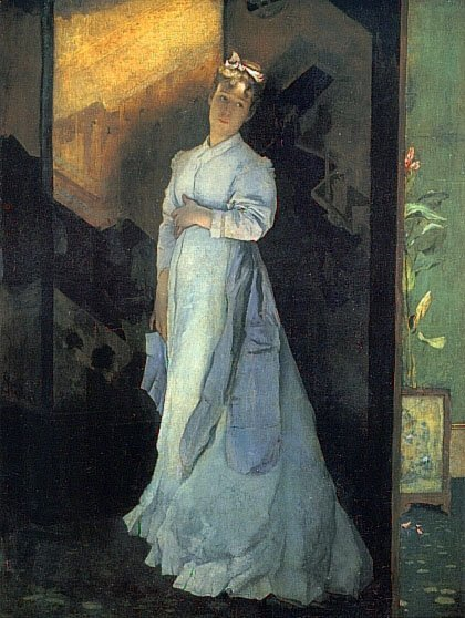 The Farewell Note | Alfred Stevens | oil painting