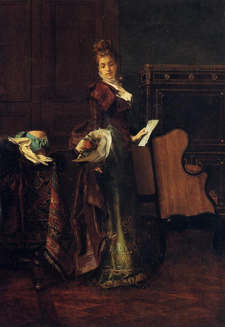 The Love Letter | Alfred Stevens | oil painting