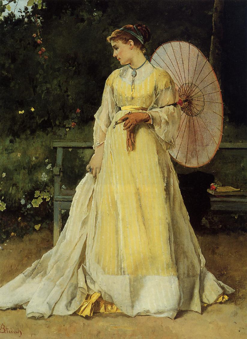 In the Country | Alfred Stevens | oil painting
