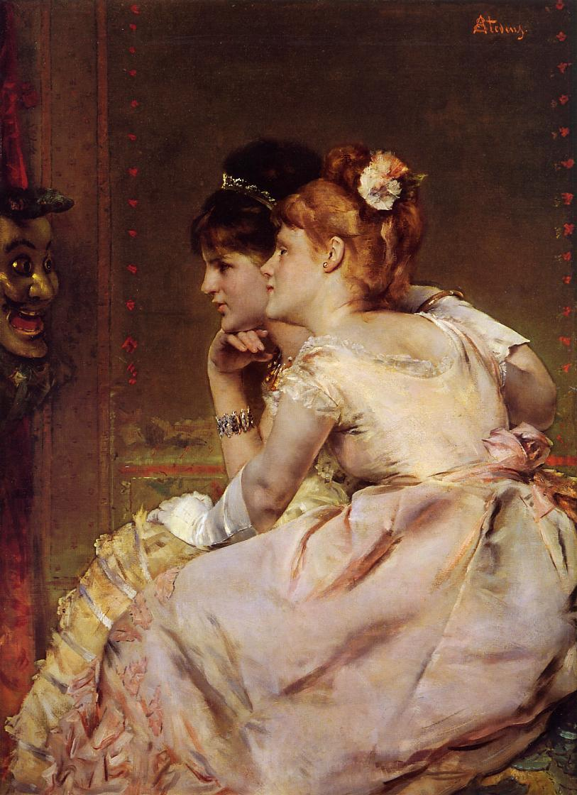The Japanese Mask | Alfred Stevens | oil painting