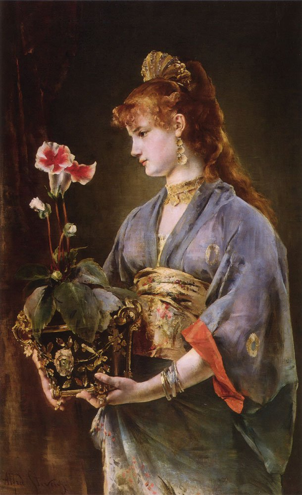 Portrait of a Woman | Alfred Stevens | oil painting