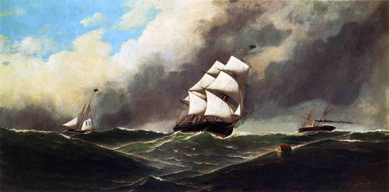 Stormy Seas 1886 | Antonio Jacobsen | oil painting