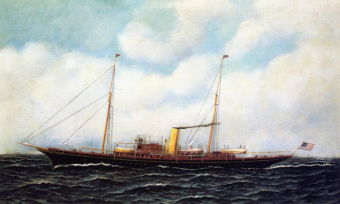 Steamship Riviera 1906 | Antonio Jacobsen | oil painting
