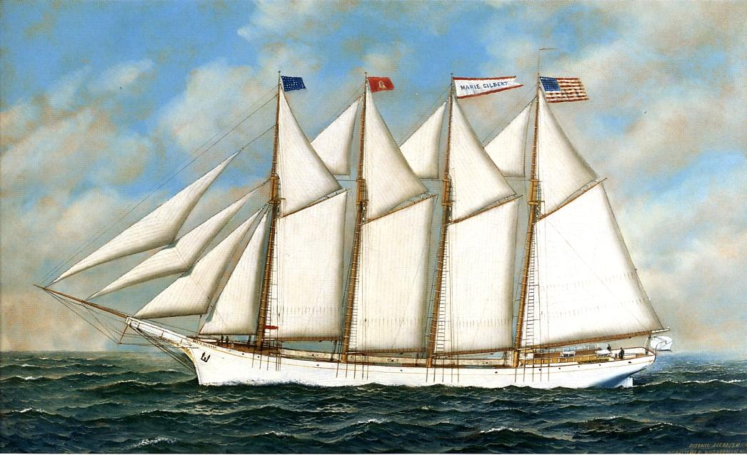 Schooner Marie Gilbert 1907 | Antonio Jacobsen | oil painting