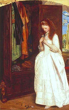 Beauty and the Beast 1863 1865 | Arthur Hughes | oil painting