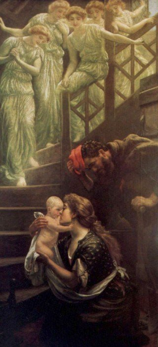 The Heavenly Stair 1887 1888 | Arthur Hughes | oil painting