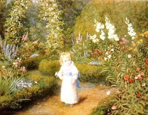 Wonderland later version 1912 | Arthur Hughes | oil painting