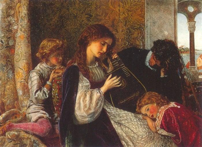 A Music Party 1861 1864 | Arthur Hughes | oil painting