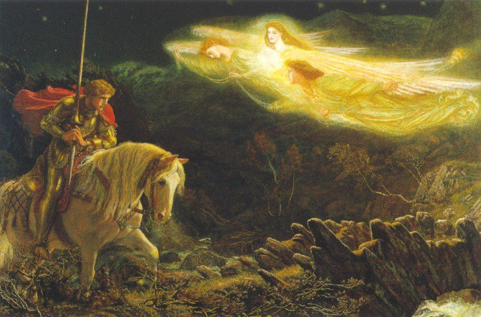 Sir Galahad 1865 1870 | Arthur Hughes | oil painting