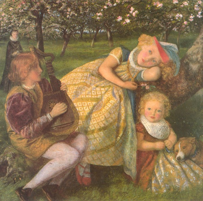 The Kings Orchard study 1857 1862 | Arthur Hughes | oil painting